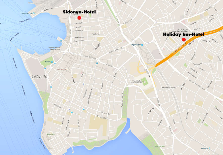Lageplan Sidonya-Holiday Inn
